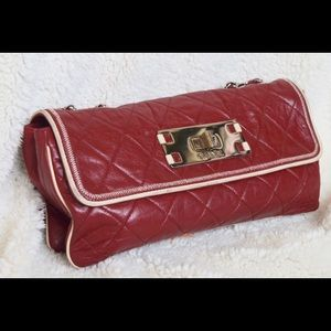Chanel Quilted Matelasse Lambskin Chain Bordeaux